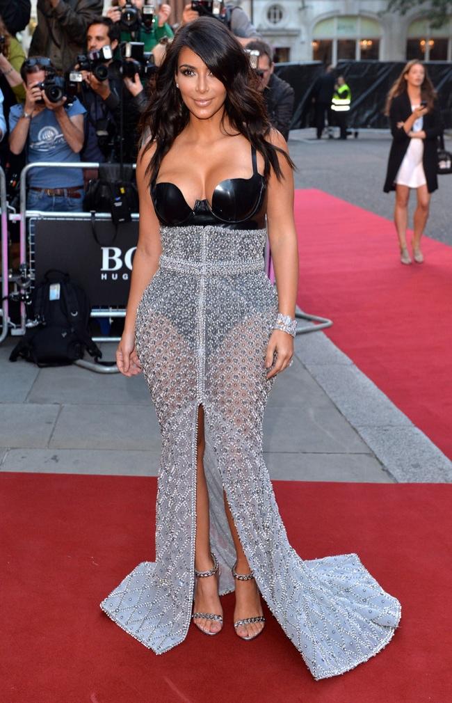 Kim Kardashian wore a sheer Ralph & Russo number