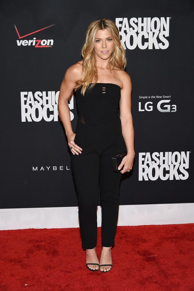 Kimberly Perry wore a black jumpsuit