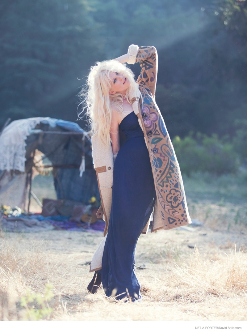 Kirsten Dunst Wears Bohemian Style for The Edit Feature