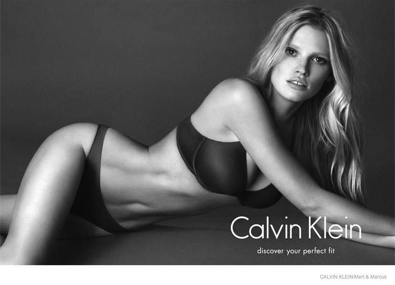 lara stone black white ck ads 2014 01 See Lara Stones Steamy Calvin Klein Jeans & Underwear Films