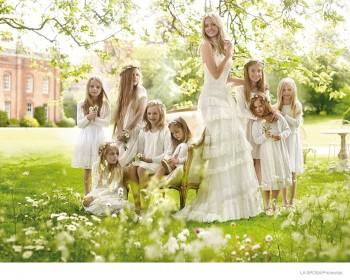 Lindsay Ellingson is an Ethereal Bride for La Sposa's Spring 2015 Ads