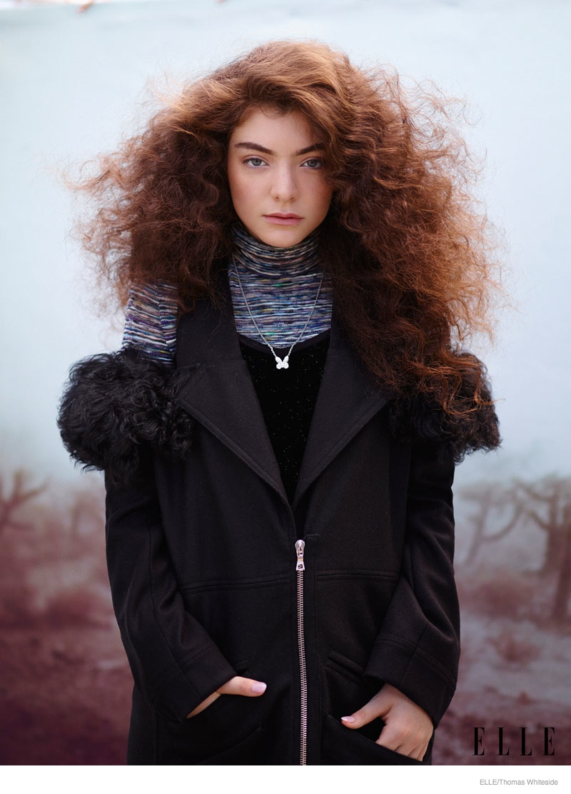 Lorde Poses for ELLE, Talks Being a Teenager in Music