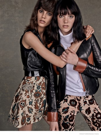 Louis Vuitton GIrls: Anya + Antonina by Mariano Vivanco for Vogue Russia