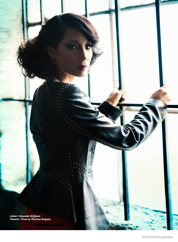 Lucy Liu Goes Glam for Schon Cover Shoot by Markus&Koala