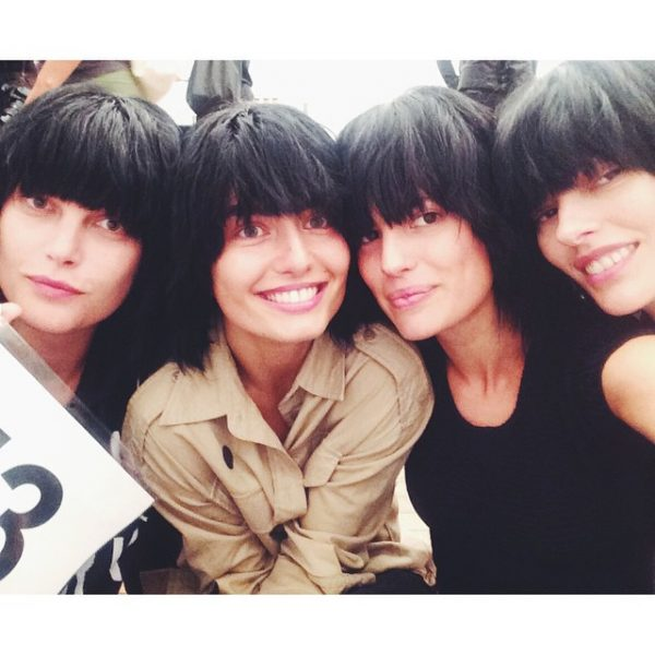 Catherine McNeil, Andreea Diaconu, Cameron Russell & Amanda Murphy Backstage at Marc Jacobs S/S 2015. Photo: Instagram