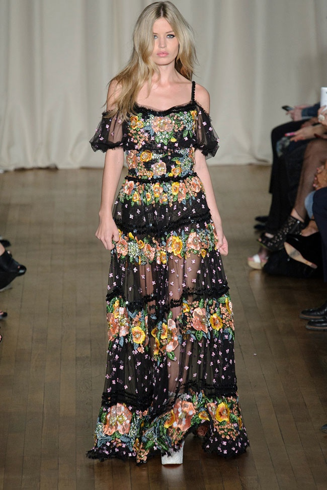 Marchesa Takes on Bohemian Style for Spring 2015