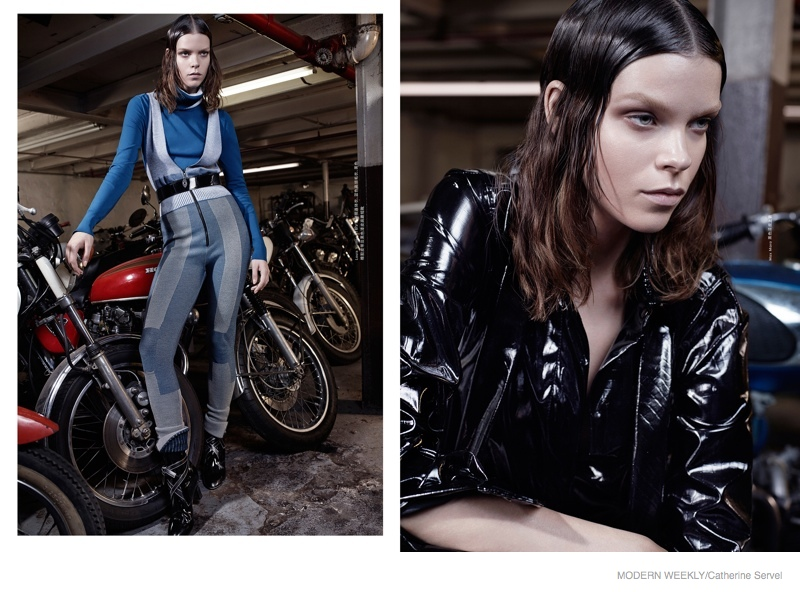 Meghan Collison Wears Moto Style for Modern Weekly by Catherine Servel