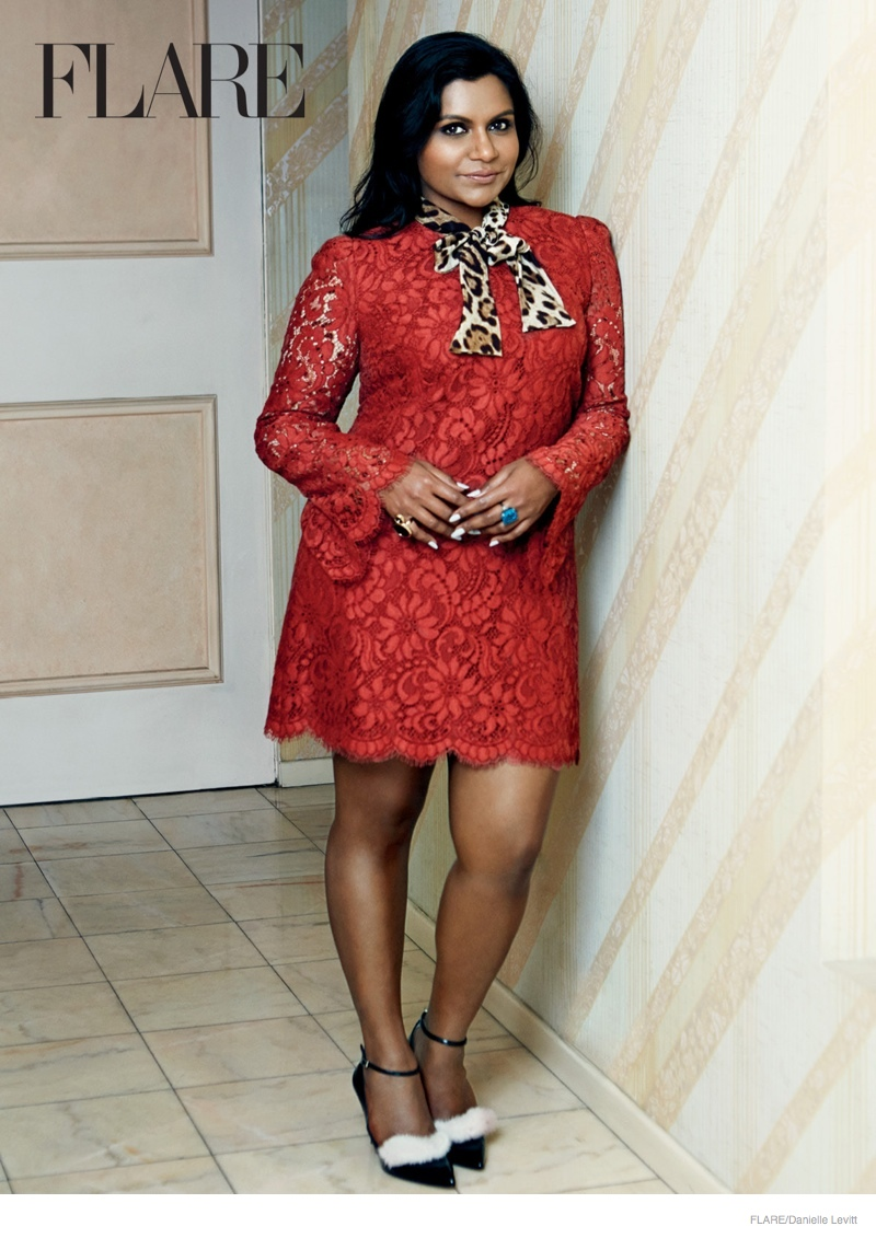 mindy kaling flare shoot 2014 03 Mindy Kaling Stars in Flare, Talks Sexism in the Industry