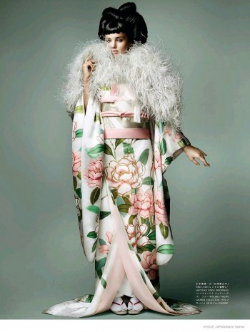 Miranda Kerr Wears Eastern-Inspired Looks for Cover Story of Vogue Japan