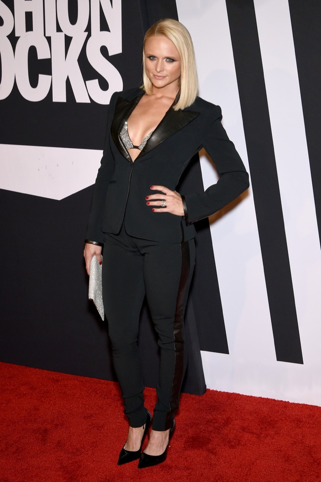Miranda Lambert donned a black pantsuit