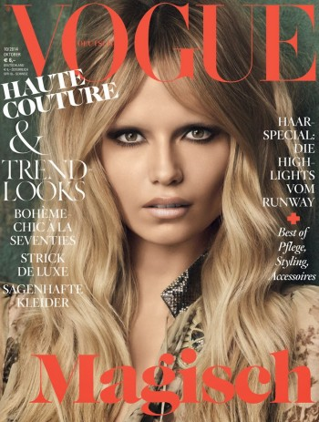 Natasha Poly Models Brigitte Bardot Hair for Vogue Germany October 2014 Cover