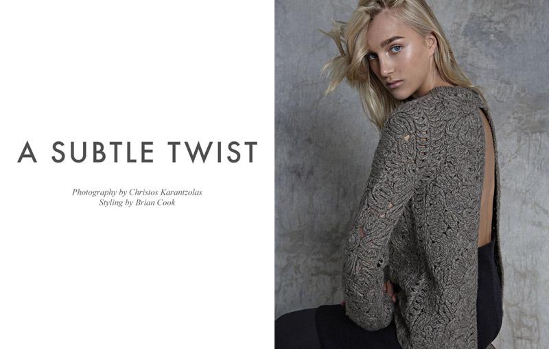 "FGR Exclusive | Sima by Christos Karantzolas in ""A Subtle Twist"""