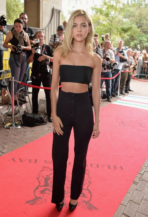nicola-peltz-calvin-klein-collection-bandeau-top-pants