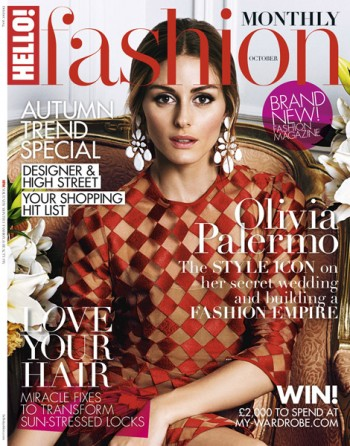 Olivia Palermo Stuns in Red Dress for Hello! Fashion Debut Cover