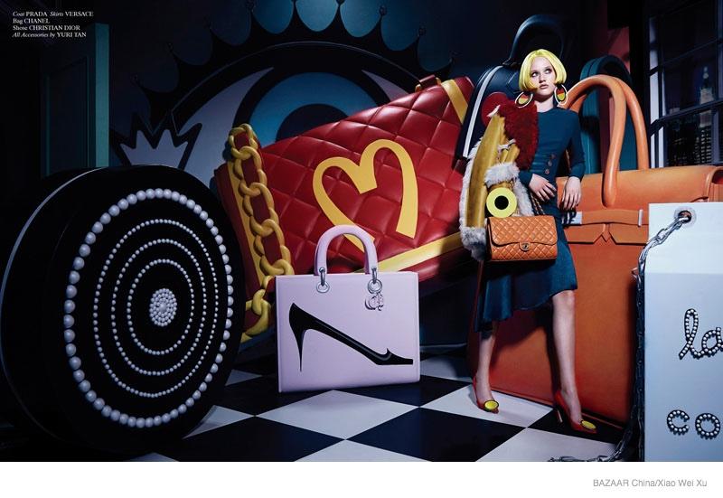 Pop Art Style: Katerina by Xiao Wei Xu in Harper's Bazaar China September 2014