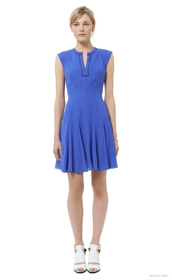 Crepe Godet Dress available at Rebecca Taylor for $195.00