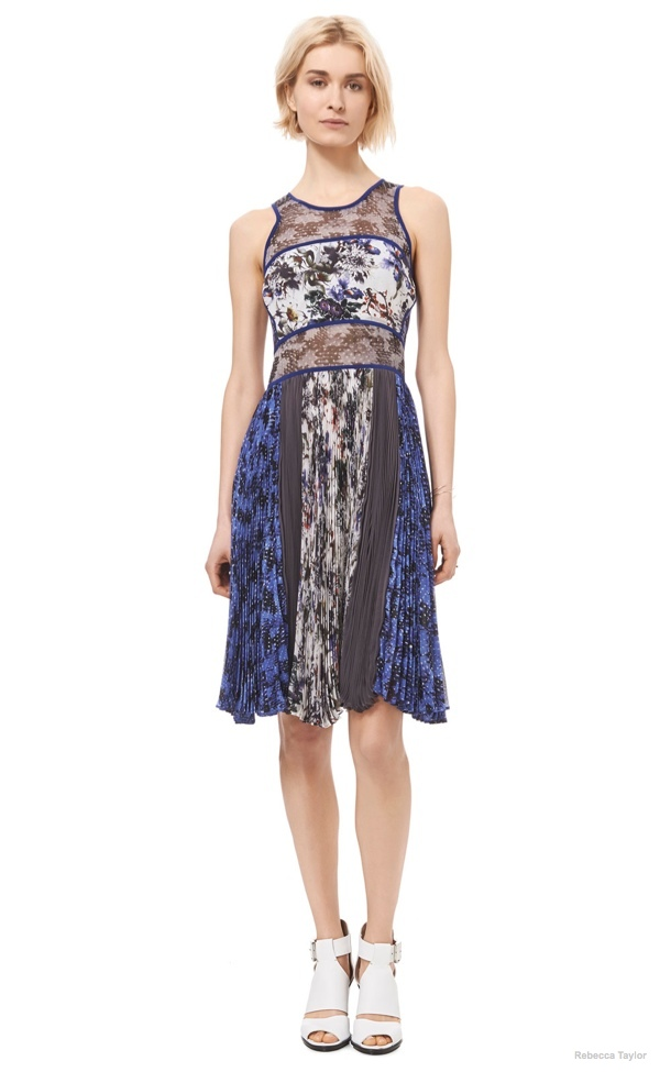 Grey Gardens Sheer Panel Dress available at Rebecca Taylor for $330.00