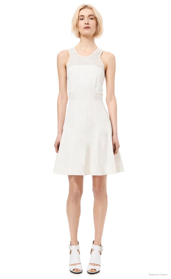Laser Cut Flare Dress available at Rebecca Taylor for $225.00