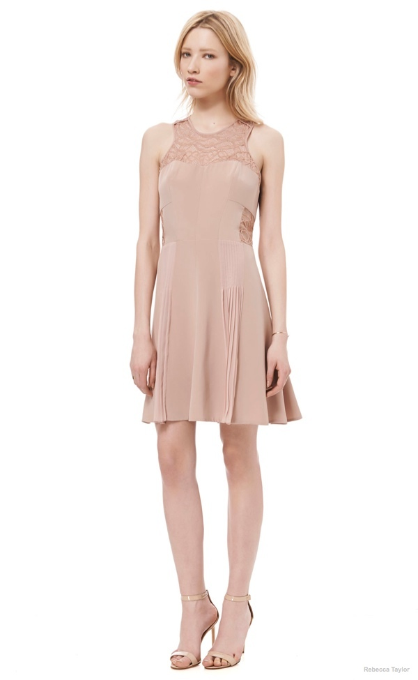 Sleeveless Lace Dress available at Rebecca Taylor for $278.00