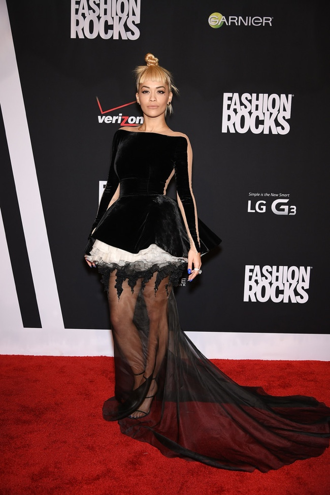 Rita Ora wore a punk-inspired Stephane Rolland gown