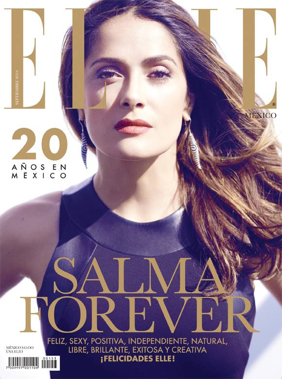 salma hayek elle mexico 2014 cover Salma Hayek Stuns in Elle Mexico Cover Shoot by Diego Uchitel