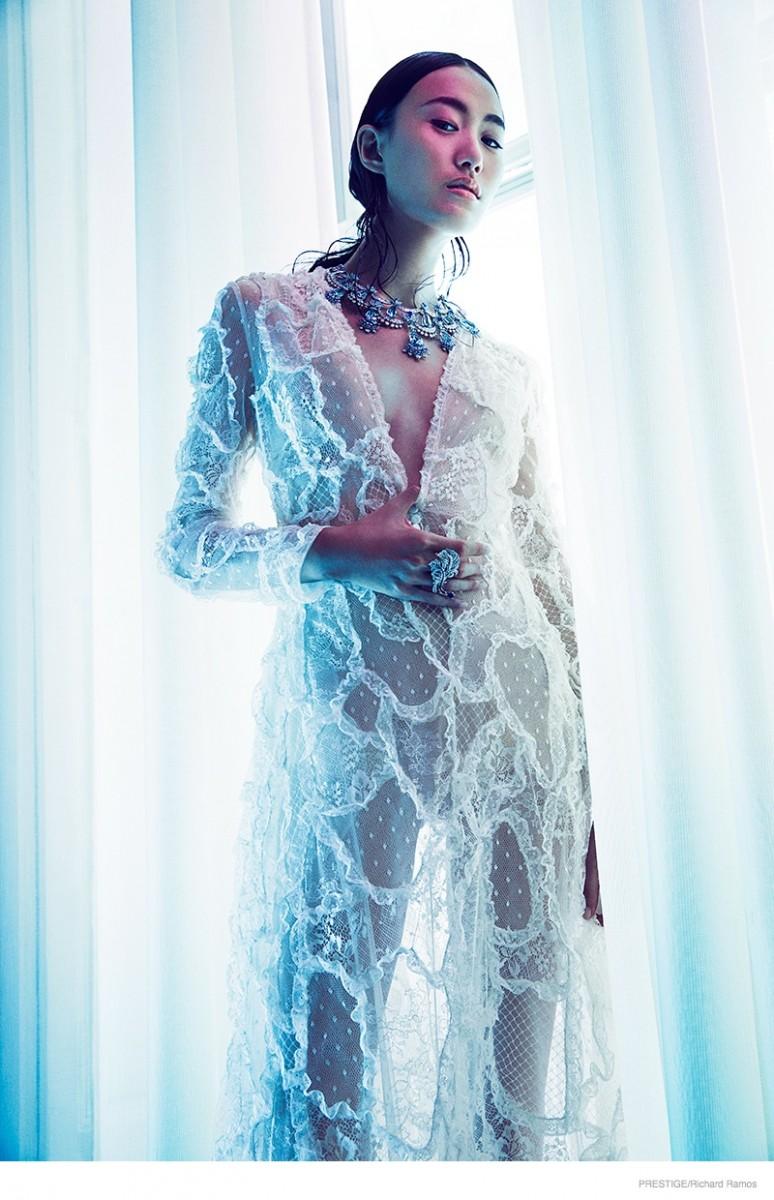 shu pei van cleefs arpel jewelry02 774x1200 Shu Pei Shines in Gems for Richard Ramos in Prestige Magazine