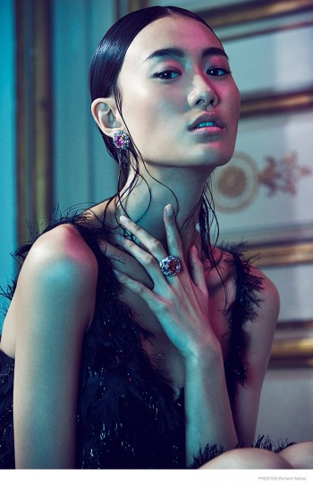 Shu Pei Shines in Gems for Richard Ramos in Prestige Magazine