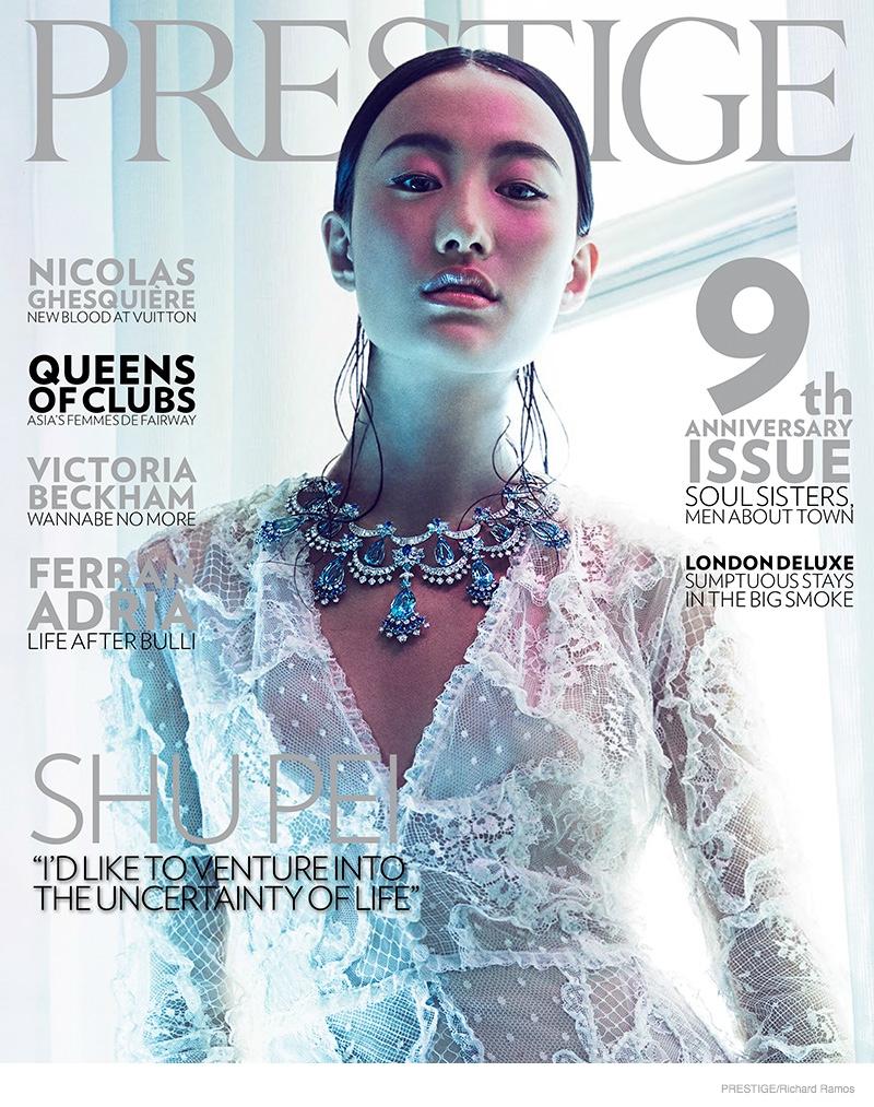 shu pei van cleefs arpel jewelry06 Shu Pei Shines in Gems for Richard Ramos in Prestige Magazine