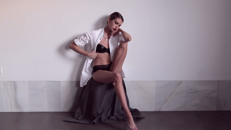 "Stella Maxwell Stars in ""La Playita"" Short Film by Mariano Vivanco"