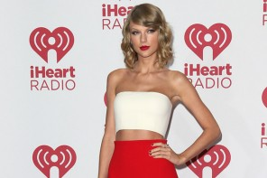 Taylor Swift in Calvin Klein Collection Top & Skirt at iHeart Radio Event