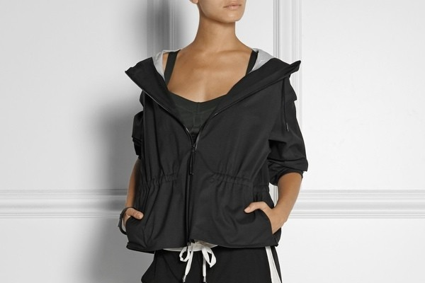 Theory+ Flya hooded twill jacket available at Net-a-Porter for $295.00