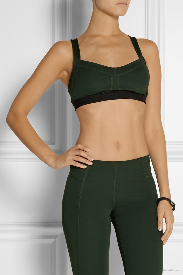 Theory+ Zing stretch-jersey sports bra available at Net-a-Porter for $75.00