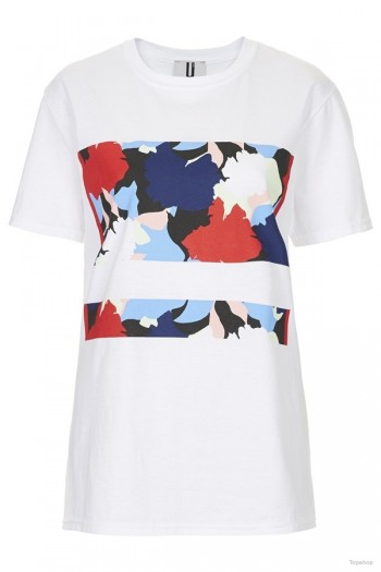 Topshop Unique Abstract Flower Print Tee available at Topshop for $75.00