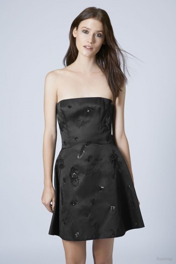 Strapless Sequin Mini Dress by Unique available at Topshop for $675.00