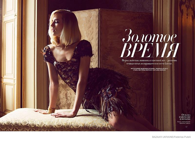 Tosca Dekker Gets Luxe for Bazaar Ukraine by Federica Putelli