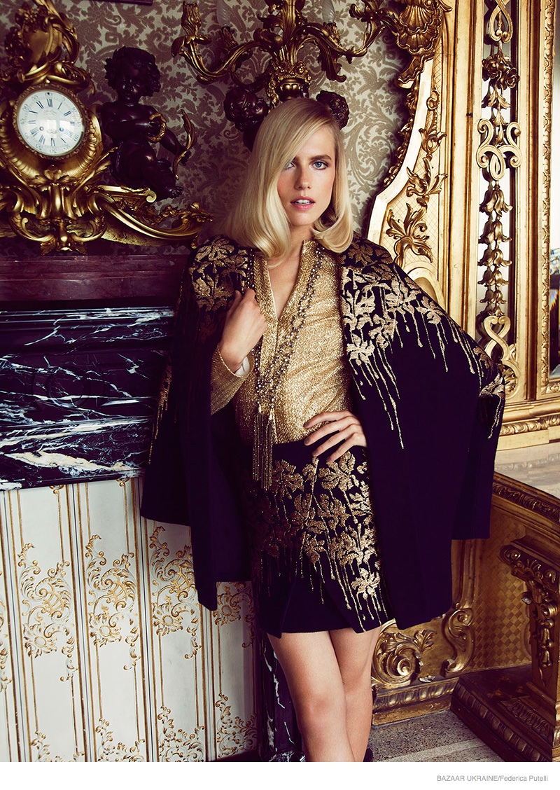 Tosca Dekker Gets Luxe for Bazaar Ukraine by Federica Putelli