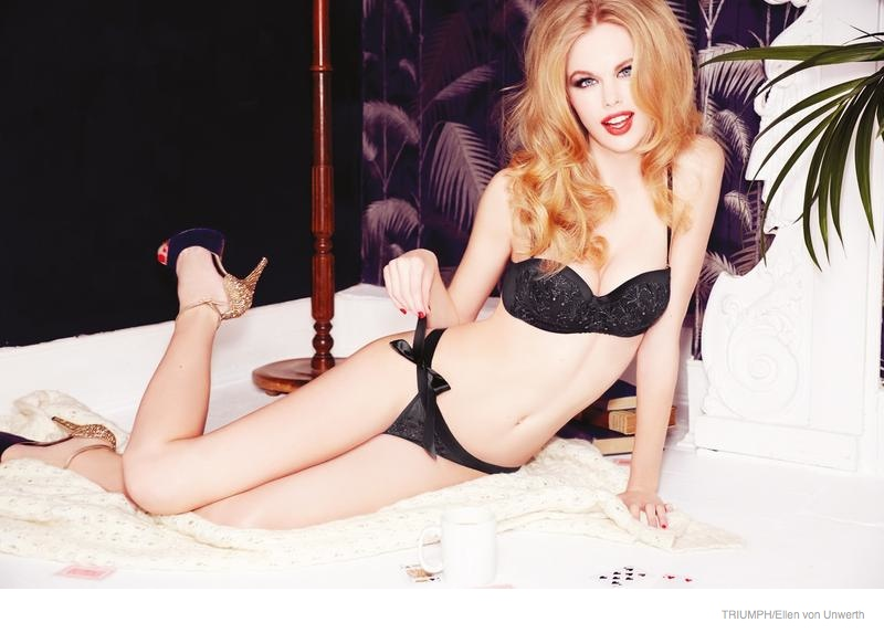 Emma Stern Nielsen Wows for Triumph Lingerie Fall 2014 Ads by Ellen von Unwerth