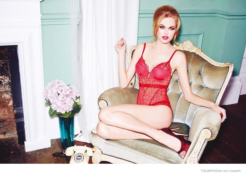 triumph lingerie 2014 fall ad campaign03 Emma Stern Nielsen Wows for Triumph Lingerie Fall 2014 Ads by Ellen von Unwerth