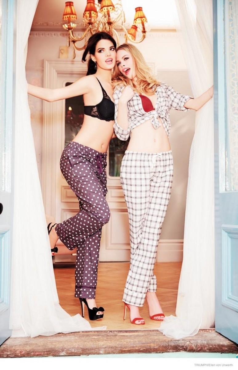 triumph lingerie 2014 fall ad campaign05 773x1200 Emma Stern Nielsen Wows for Triumph Lingerie Fall 2014 Ads by Ellen von Unwerth