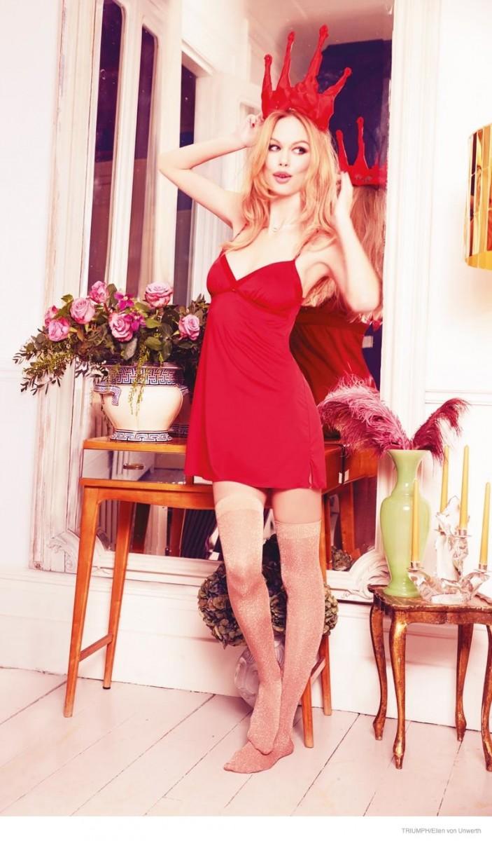 triumph lingerie 2014 fall ad campaign07 703x1200 Emma Stern Nielsen Wows for Triumph Lingerie Fall 2014 Ads by Ellen von Unwerth