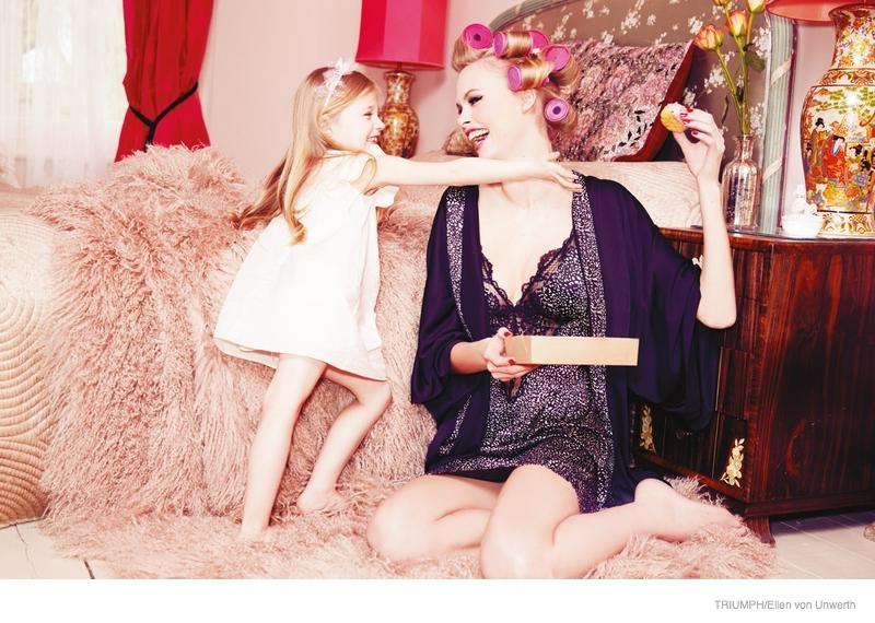 triumph lingerie 2014 fall ad campaign09 Emma Stern Nielsen Wows for Triumph Lingerie Fall 2014 Ads by Ellen von Unwerth