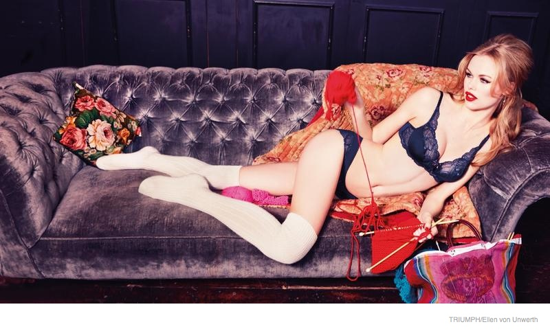 triumph lingerie 2014 fall ad campaign14 Emma Stern Nielsen Wows for Triumph Lingerie Fall 2014 Ads by Ellen von Unwerth
