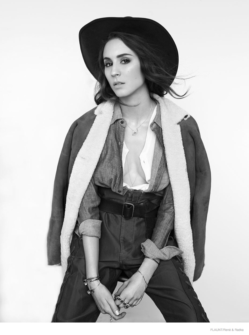 troian bellisario flaunt 2014 shoot02 Pretty Little Liars' Star Troian Bellisario is Cowgirl Cool for FLAUNT