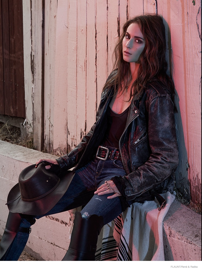 troian bellisario flaunt 2014 shoot03 Pretty Little Liars' Star Troian Bellisario is Cowgirl Cool for FLAUNT