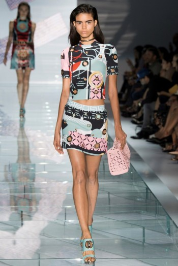 Versace Spring 2015: Sporty Glam