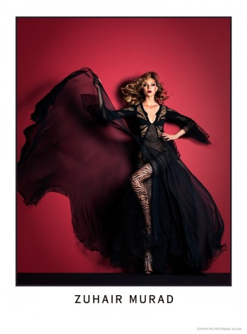 Masha Voronia Models for Zuhair Murad Fall 2014 Ads by Rabee Younes