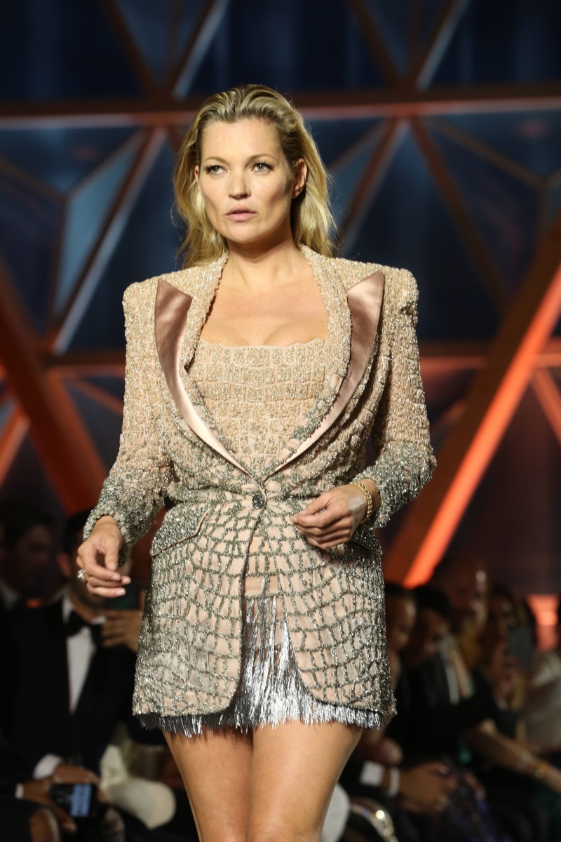 Kate Moss at Fashion For Relief Charity Gala Show in Cannes, France.