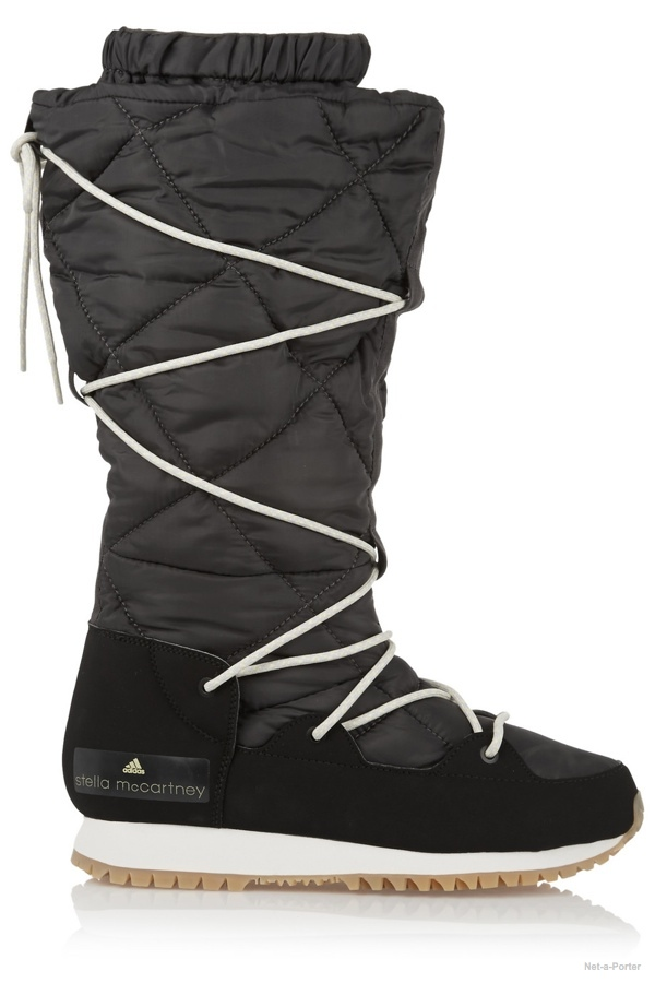 adidas by Stella McCartney Fleece-lined faux suede and shell ski boots available at Net-a-Porter for $200.00