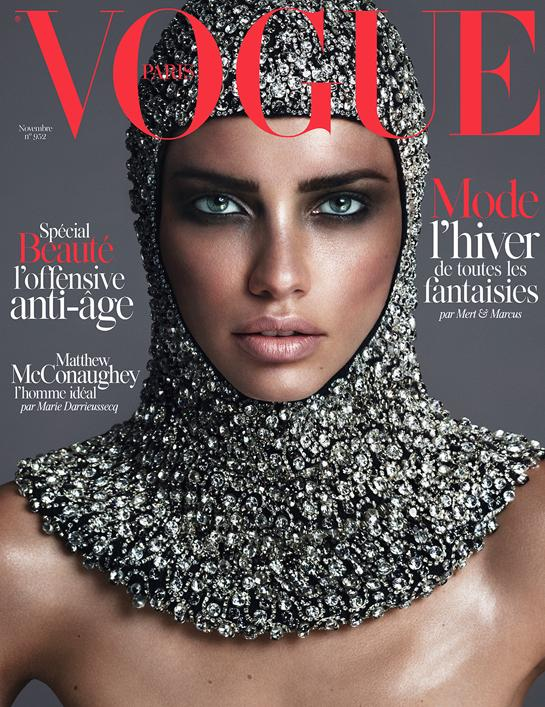 Adriana Lima Goes Medieval on Vogue Paris November 2014 Cover