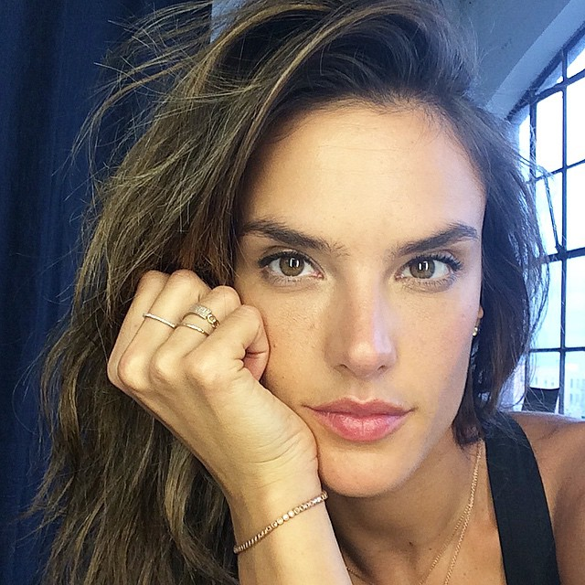 Alessandra Ambrosio shows off new jewelry